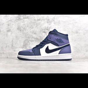 "NK Air Jordan 1 Mid ""Sanded Purple"""